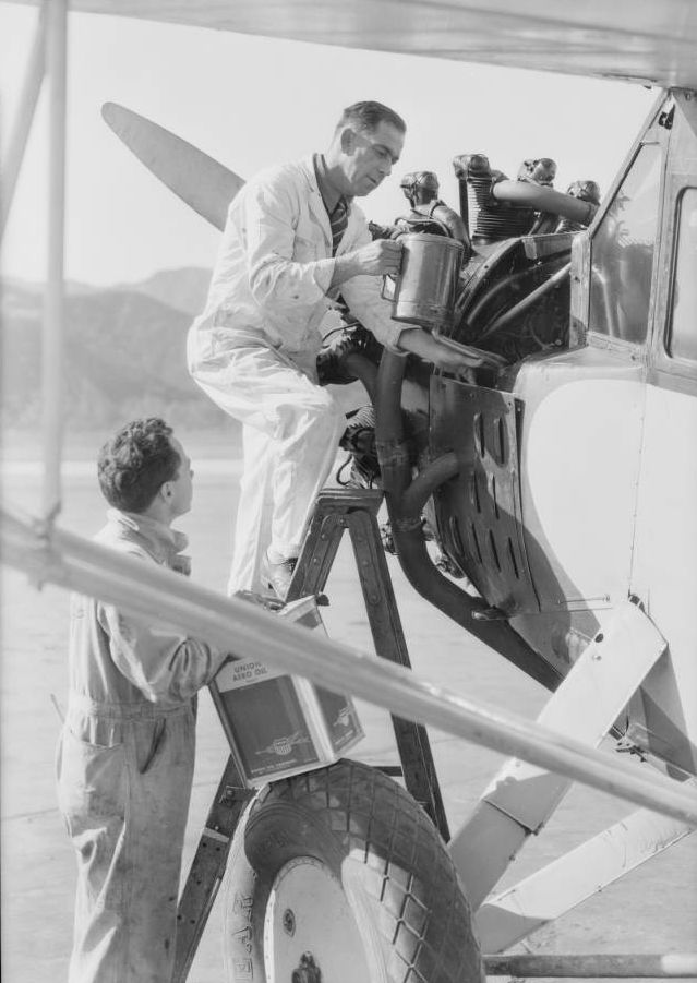 Airplane oil at Grand Central Airport, Glendale, CA, 1931 2.jpg