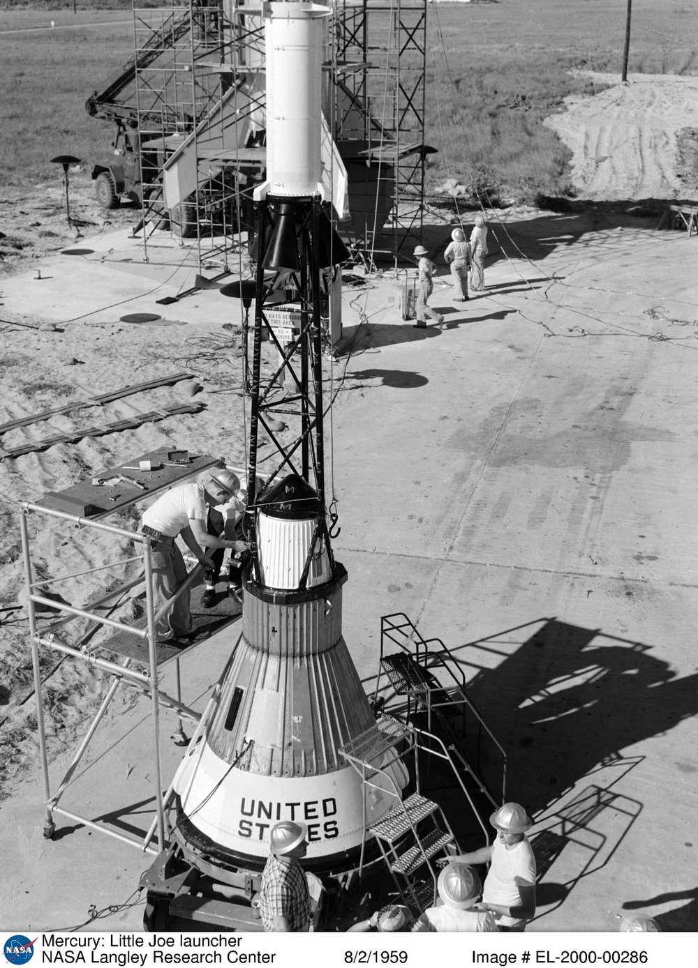 Mercury- Little Joe (LJ1) launcher 1959.jpg