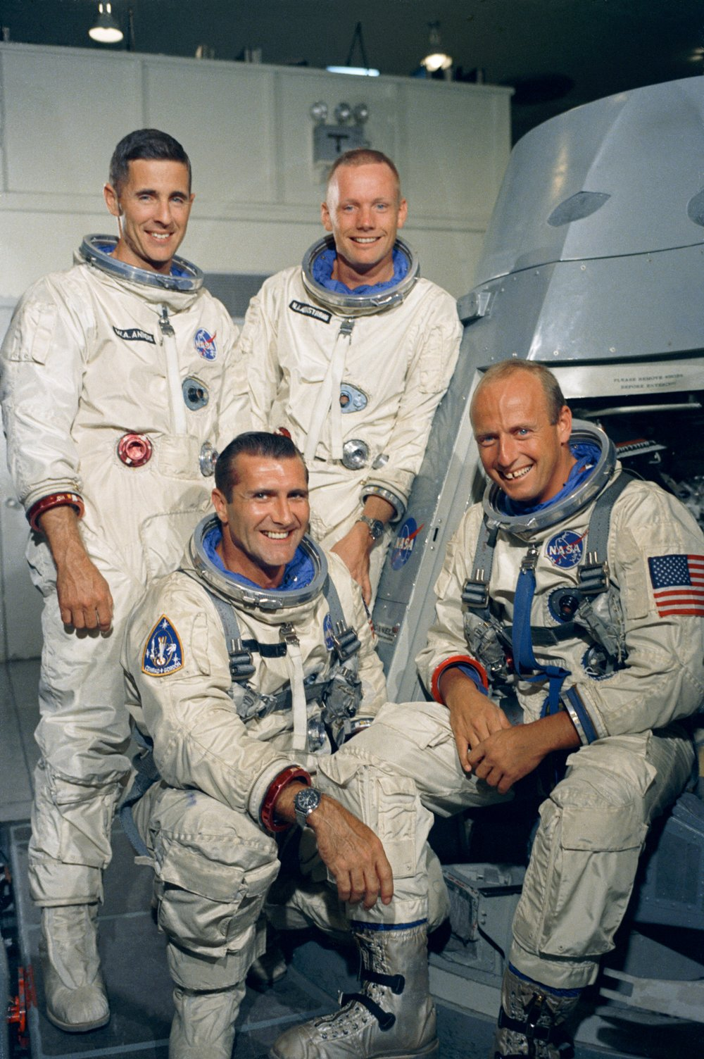 Portrait of Gemini 11 prime and backup crews.