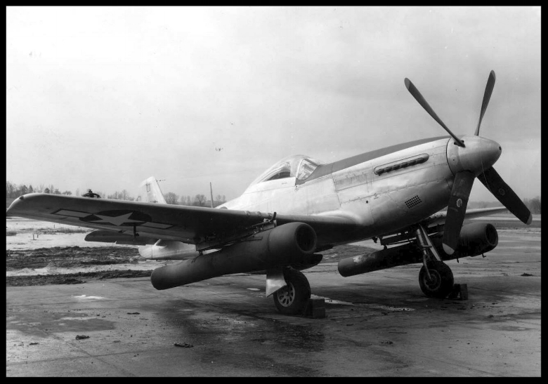 "Aircraft on photo: North American P-51D Mustang (""Ford pulsejets"")  Photo source: National Museum"