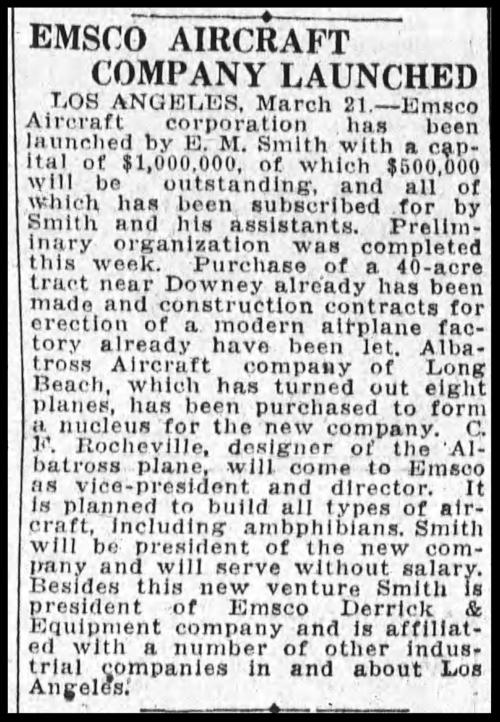 Oakland Tribune, September, 1929.