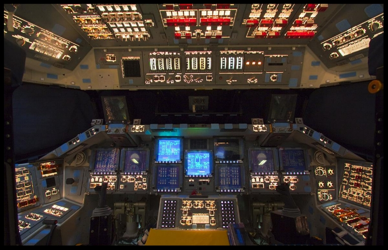 From The Atlantic.   In Orbiter Processing Facility-2 at NASA's Kennedy Space Center in Florida, the flight deck of space shuttle Atlantis is illuminated one last time during preparations to power down Atlantis during Space Shuttle Program transition and retirement activities, on December 22, 2011. Atlantis is being prepared for public display in 2013 at the Kennedy Space Center Visitor Complex .    Full Article