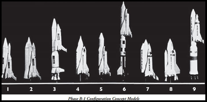 Above- Shuttle Phase B-1 Configuration Concept Models