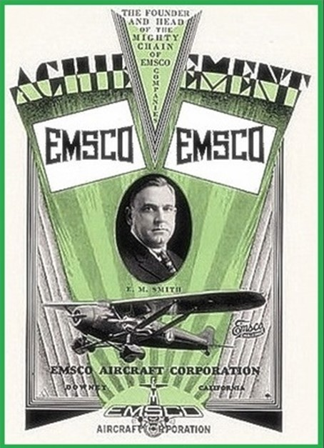 Emsco Aircraft Corporation brochure page from 1929.