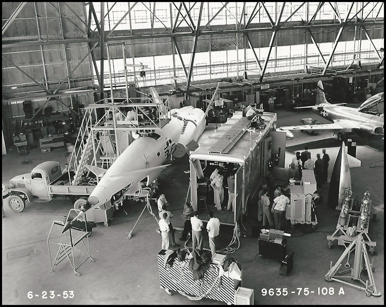 Above- X-10 Navaho June 2, 1953 at North American Aviation in Downey, CA. Boeing Management Association 2000