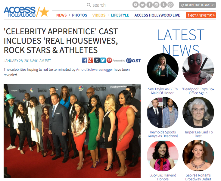Celebrity Apprentice Cast Announced