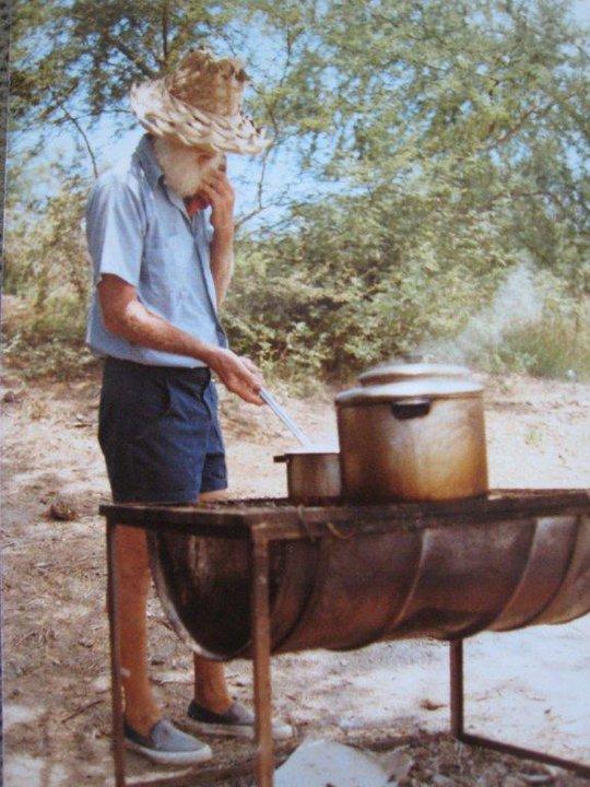 Captain Eldon cooking