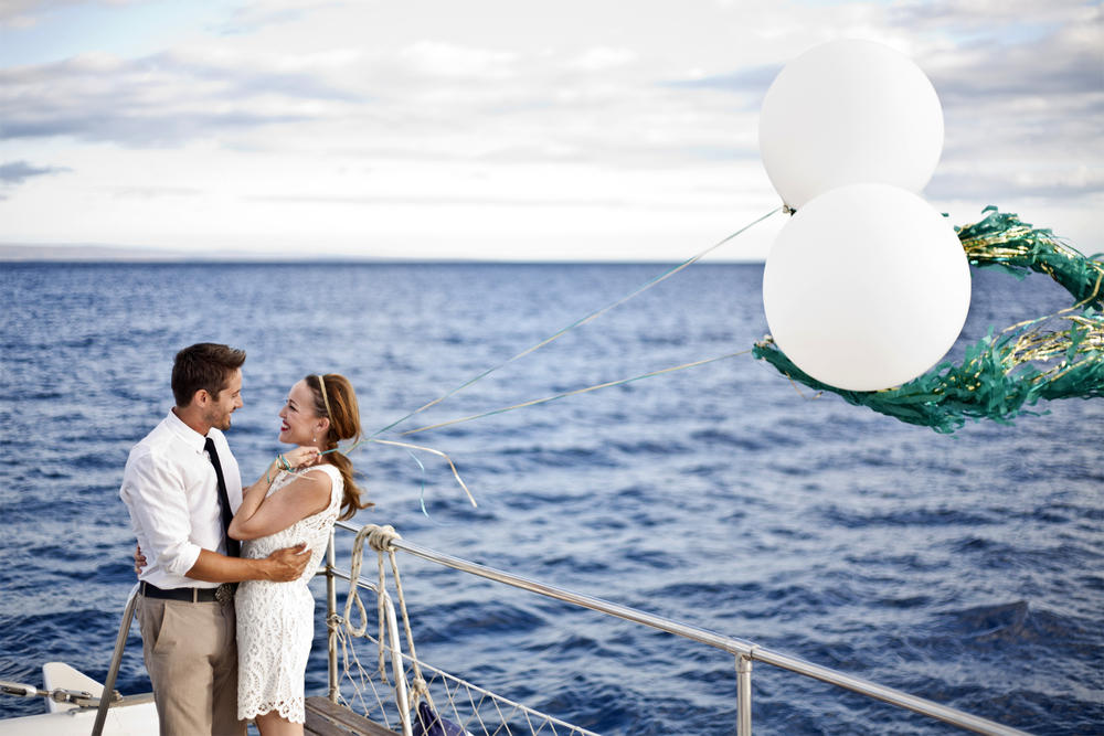 Balloons at sea.4x6