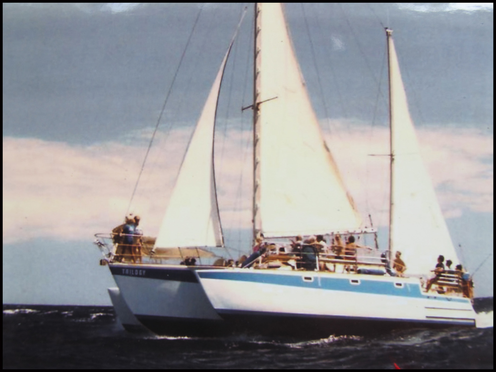 original Trilogy boat sailing in Maui