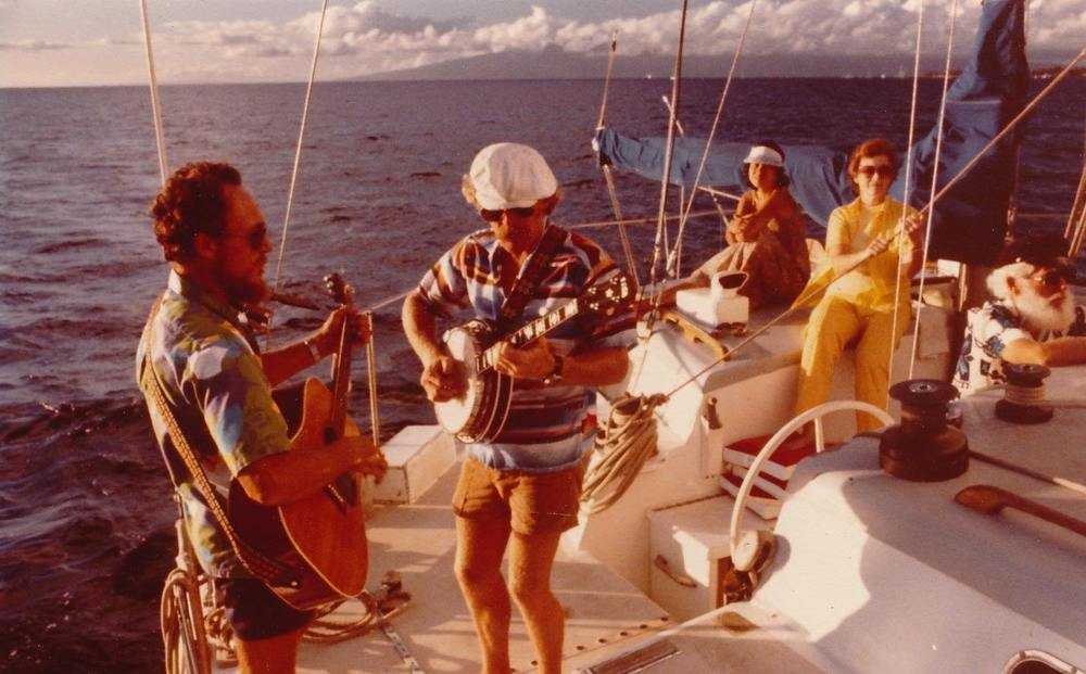 Jim and Rand Coon jamming on deck the original Trilogy in 1976