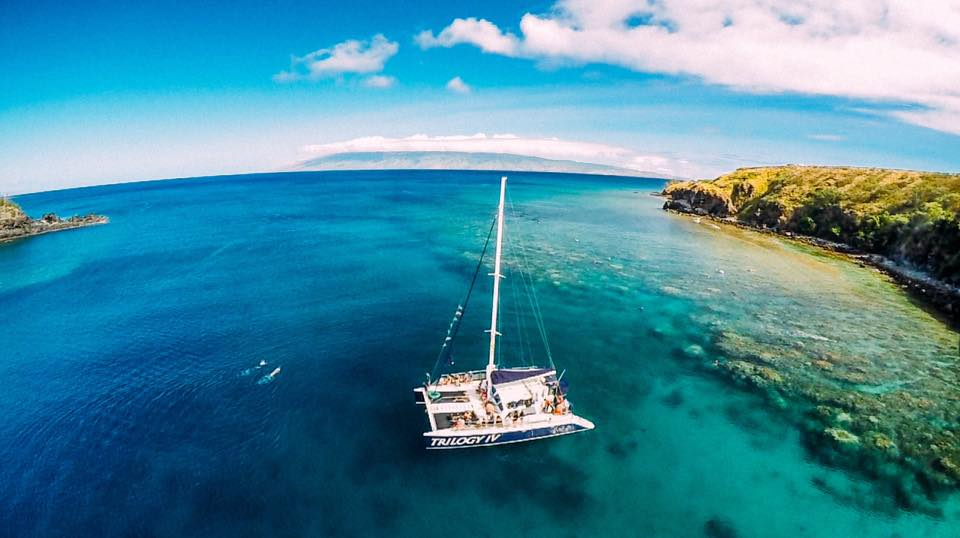 Honolua Bay from he sky. PC: @mylifenokaoi