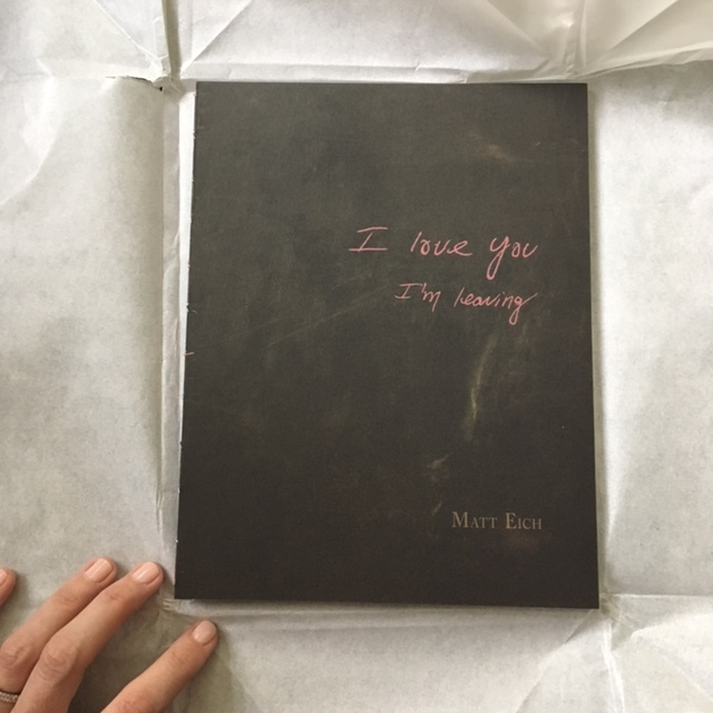 Matt Eich,  I love you, I'm Leaving  monograph