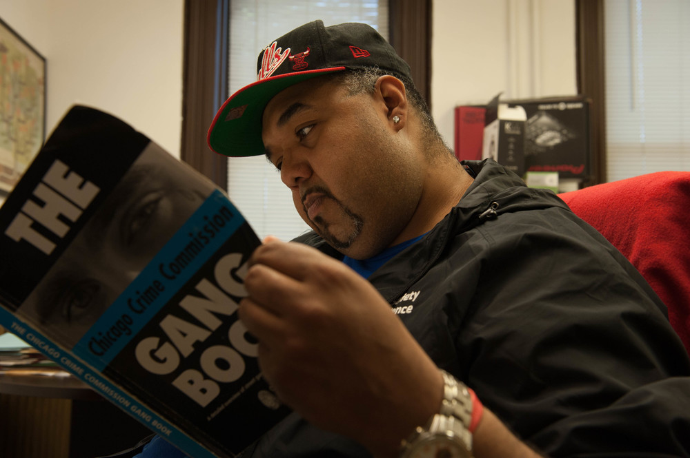 Almore was born and raised in Pilsen, Chicago. This community, like many across the city, struggles with gang violence.