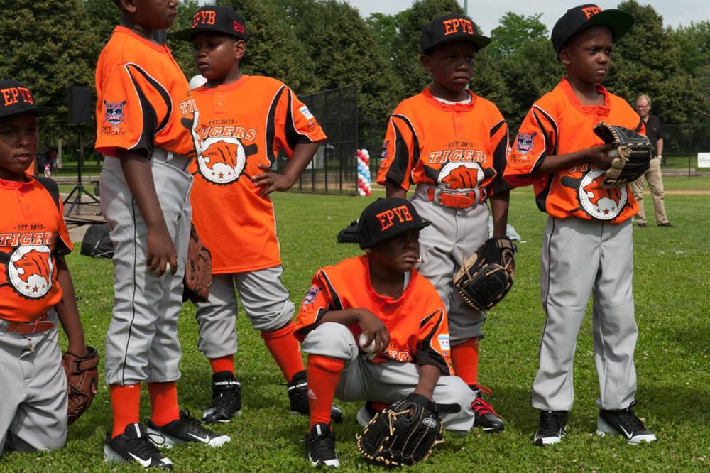 Boys in Hamilton Park in Englewood