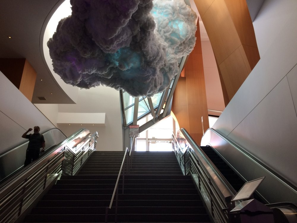 "The ""Nimbus"" installation at Walt Disney Concert hall. Photo Credit: Adriana Cargill"