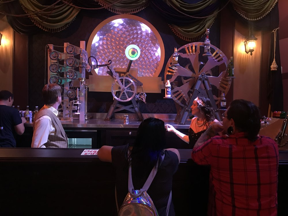 "This ""robotic bartender"" is one of the several attractions at Two Bit Circus, a place that's trying to reinvent the feel of old-fashioned carnivals ... but with a touch of the digital age. Photo credit: Adriana Cargill"