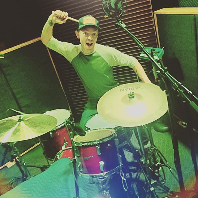 Our drummer Ryan Wayne Patterson @tastybeet emphasizing the backbeat during a recording session at #GerronMusic at @spaceatx on Saturday #countrysoulrocknroll #PalominoShakedown