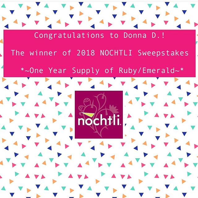 Congratulations to Donna D.! The winner of 2018 NOCHTLI Sweepstakes *~One Year Supply of Ruby/Emerald~* Thank you everyone for participating!  #superiorfruit #paragonfruits