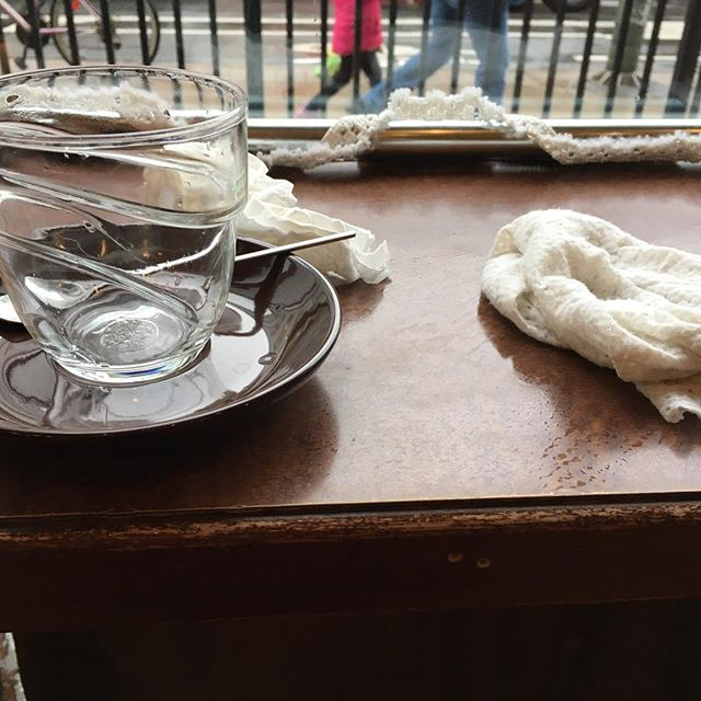 WHY WE ASK YOU TO NOT CLEAR YOUR TABLE Because if you bring us your empty cups/glasses and used napkins, our staff does not see your eating space needs cleaning. As simple as that! #cleaningtables #cleaneating #protocol #coffeeshop #coffeeshops #coffeeshoptoronto #torontoeating #commonsense #staff #restaurantstaff #torontoeats