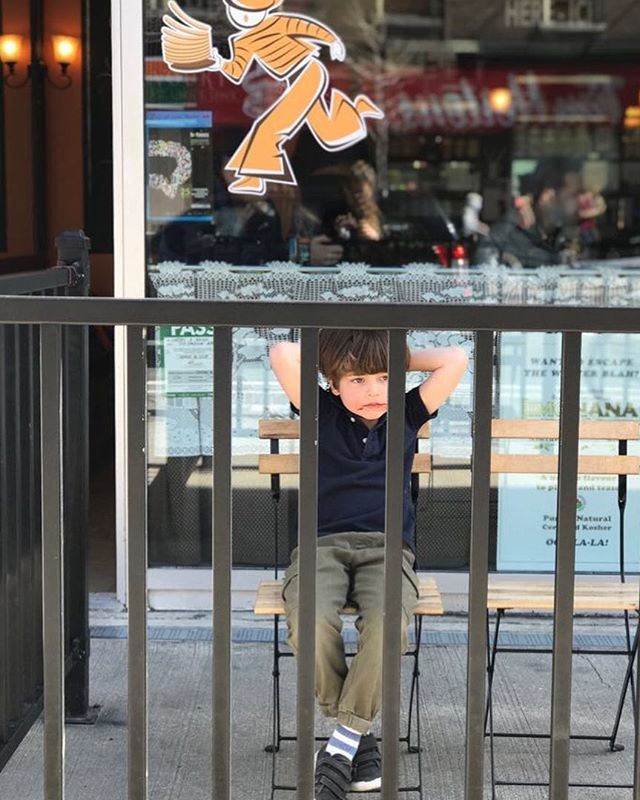 First beautiful day to allow us chairs on our patio!  And this young man certainly enjoyed every minute of it! #patio #patiotime #cafeterrace #sunnydays #warmday #farniente #kidsstyle #kids #outdooreating #patioeating #patiotoronto #kidsfood #kidsfun