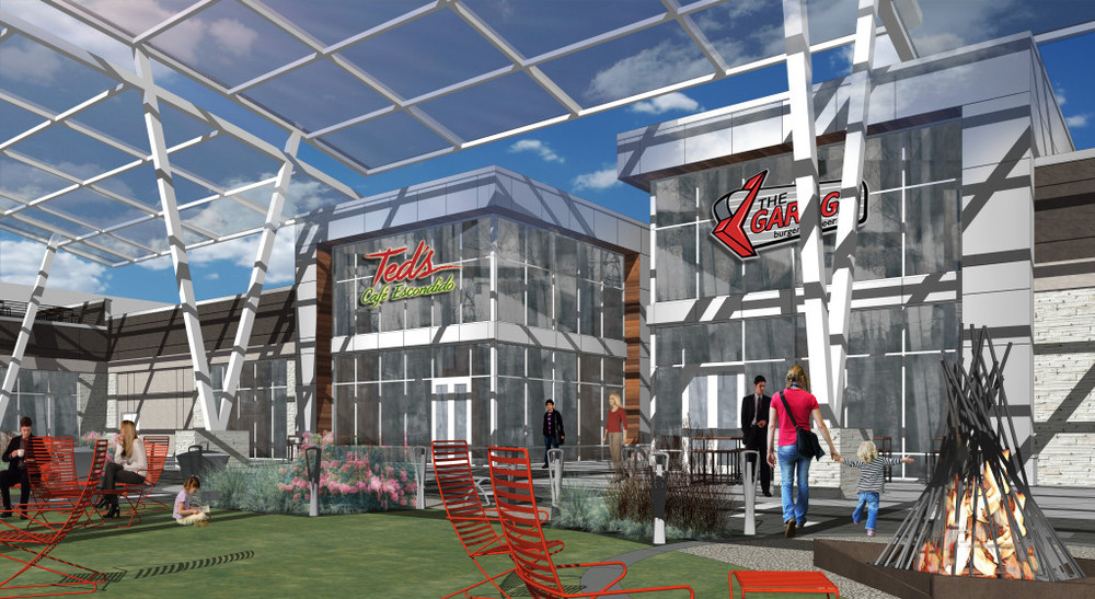 Four new restaurants are headed to Ward Parkway Center, including Charleston's, MidiCi, Ted's Escondido's Cafe, and The Garage. One additional restaurant has yet to be announced.