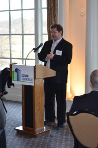 Craig Scranton of BNIM addresses members of KCRAR Commercial.