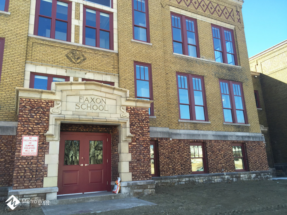 The former Faxon School has been converted to a 40-unit senior housing facility.