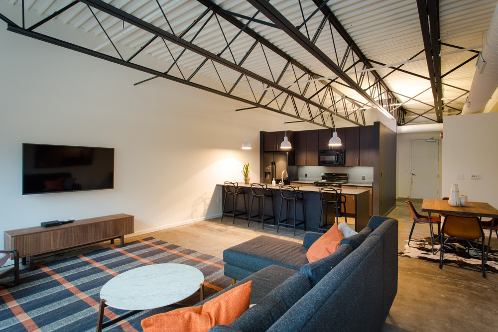 The Studio Lofts at Grocer's Warehouse offer luxury living in the heart of historic Roanoke Park.