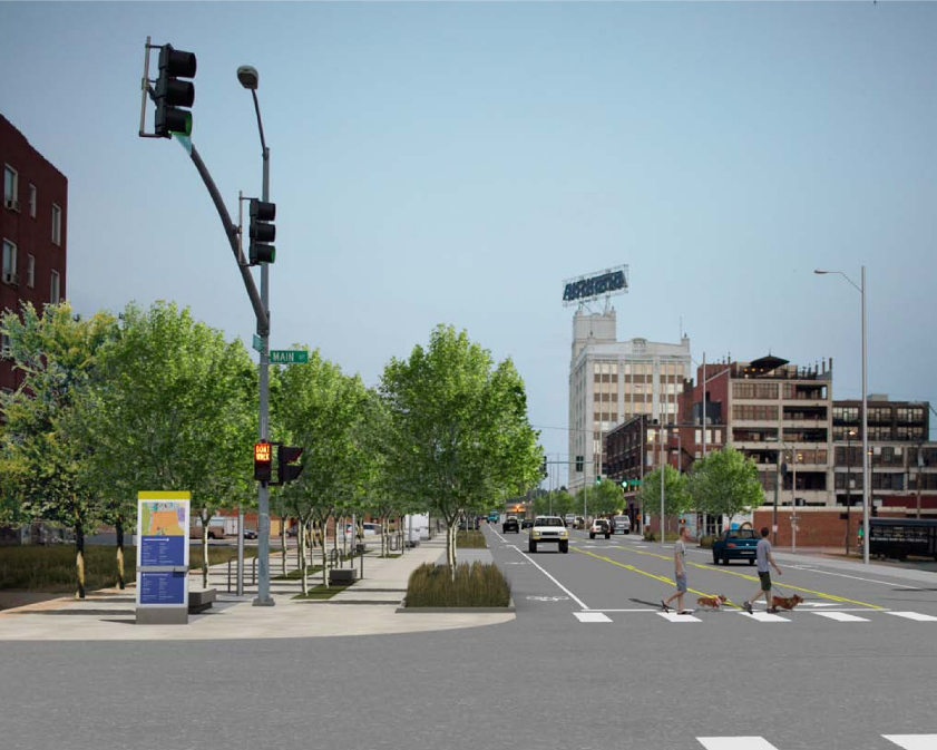 Kansas City is taking on initiatives to improve pedestrian accessibility, including this streetscape project on 20th Street. More information on that project is available  here .