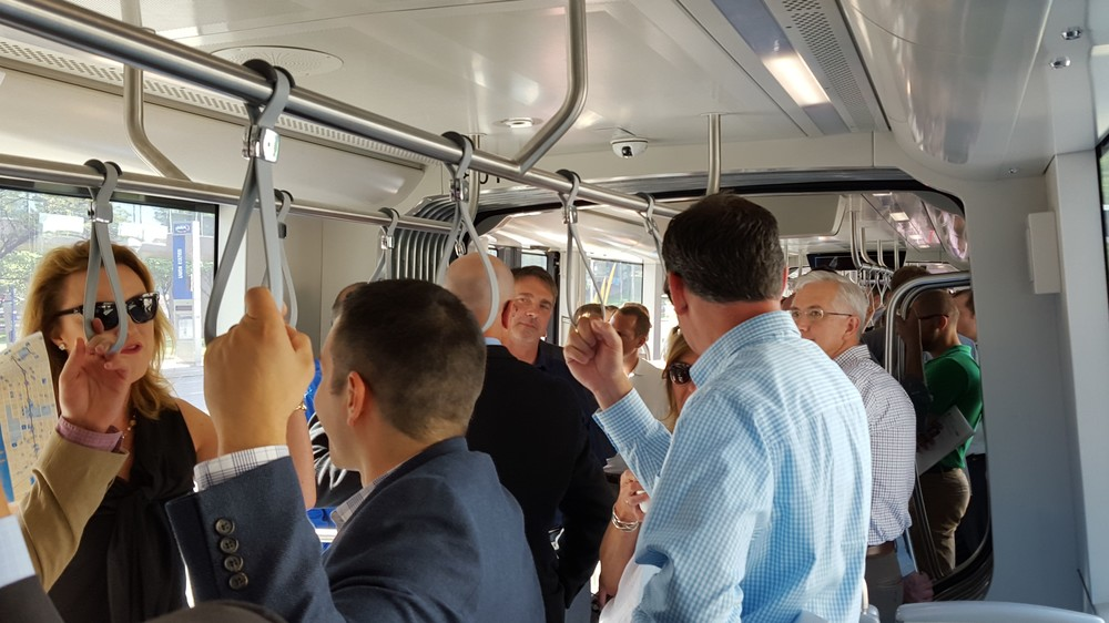 Members of ULI Kansas City shop for development opportunities along the streetcar line.