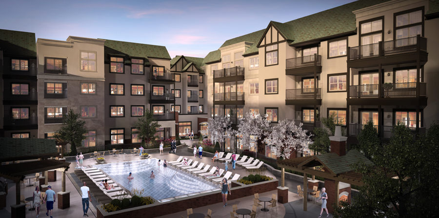 Hunt Midwest is providing capital and construction management for its boutique luxury apartment project, Mission 106 at Mission Farms. The 139-unit includes 7 townhomes and is a joint venture between ePartment Communities LLC and master developer Doug Weltner.