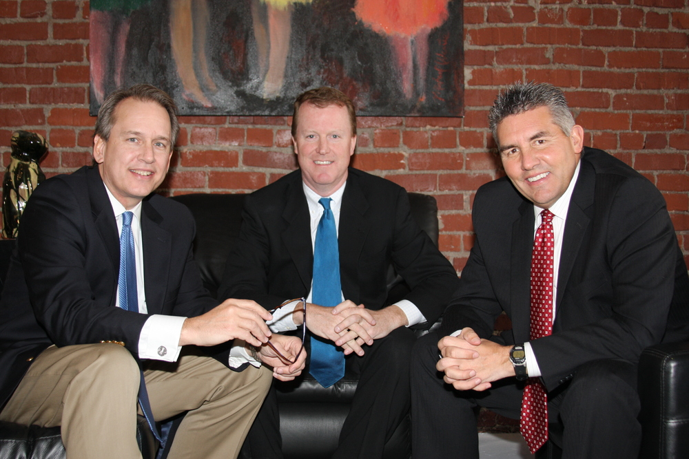 Baier (right) is the 'B' of CBC Real Estate. On the left, Bill Crandall and center, Dan Carr.