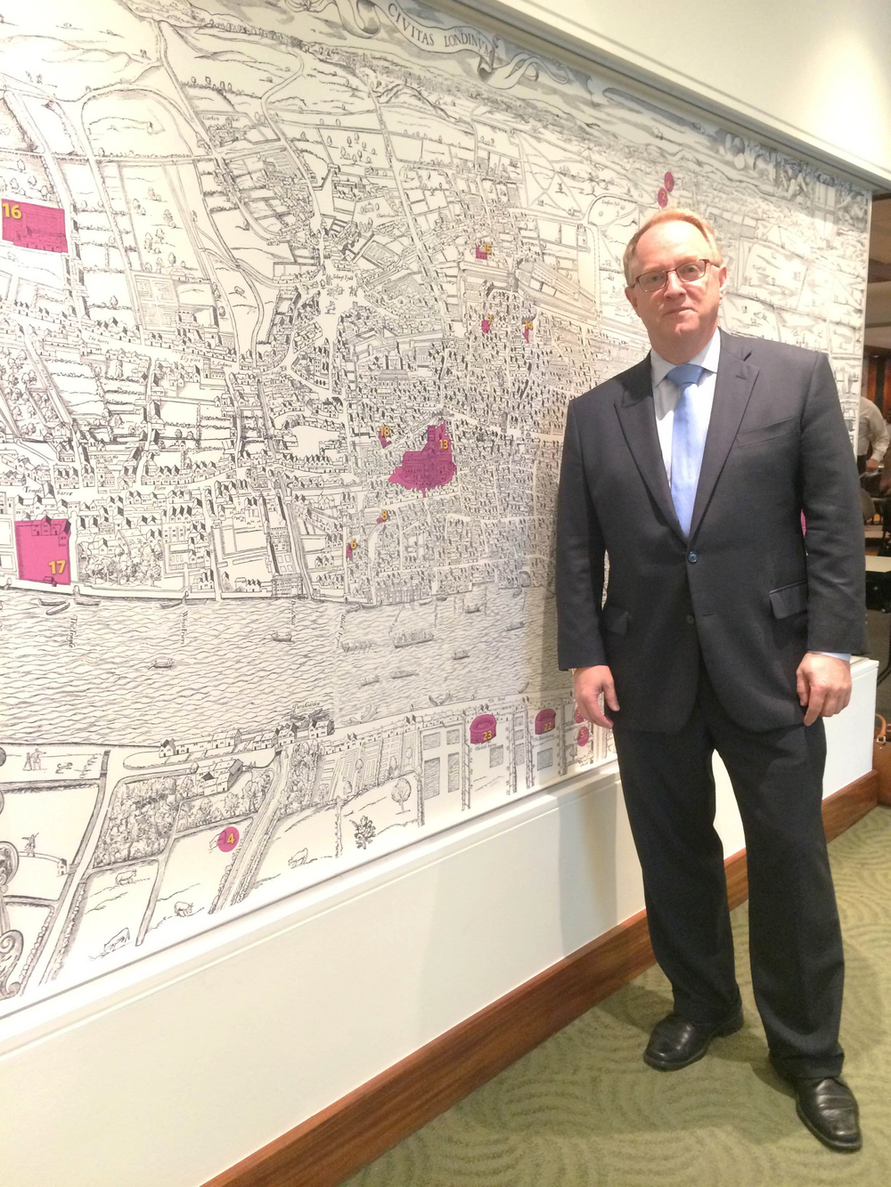 Jim Thomas unveiled details of his latest projects at last week's meeting with the KC Downtowners.
