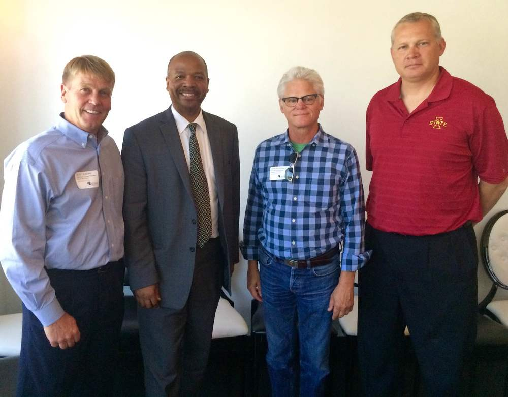 Scott Brown, general counsel Faultless Starch Bon Ami Co., Jeffrey Williams, director of city planning & development Kansas City, Mo., John McDonald, founder Boulevard Brewery, Steve Foutch, CEO Foutch Brothers.