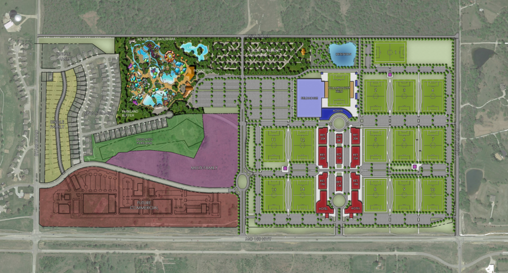 Gateway Soccer Village site plan. [Click to enlarge]