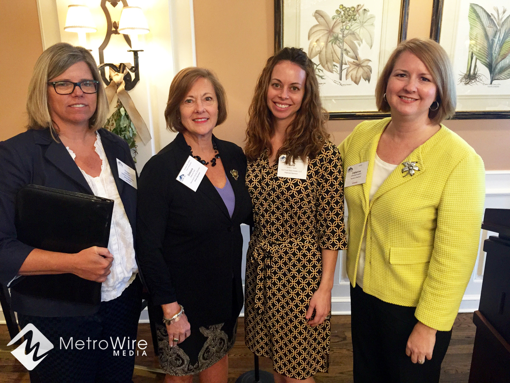 Susan Smith of Newmark Grubb Zimmer, Debora Field of Newmark Grubb Zimmer, Julia Taylor of VanTrust Real Estate, and Catherine Singleton of Nueterra Properties Group.