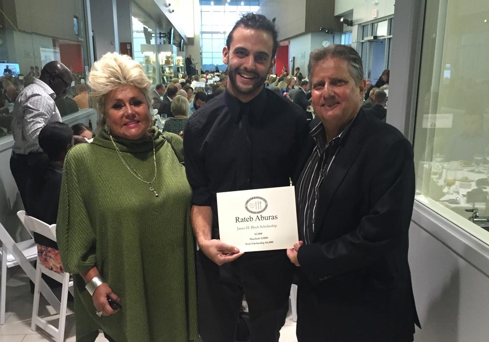 Rateb Aburas with David M. Block of Block & Company, Inc., Realtors and his wife Vicki.