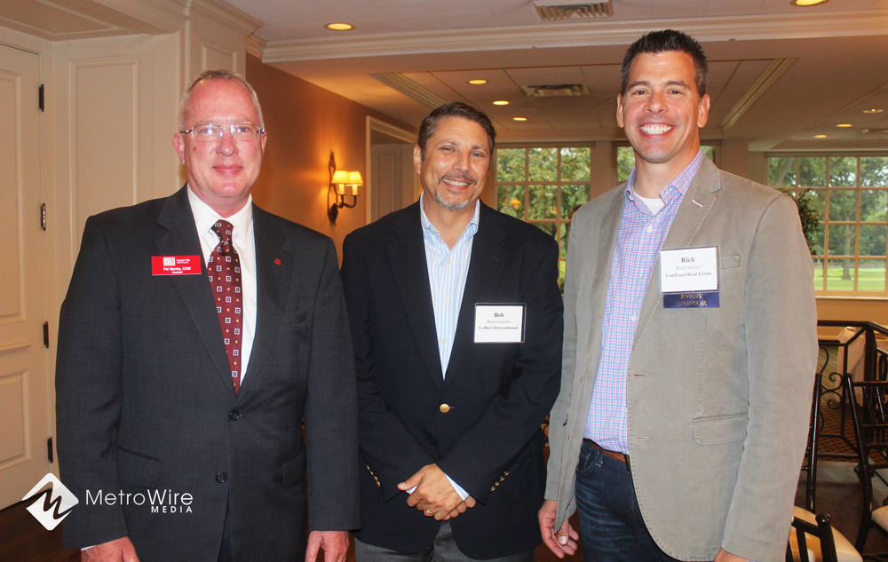 CCIM Kansas City President Pat Murfey, Evergreen Real Estate Services; Bob Galamba, Colliers International; and Rich Muller, VanTrust Real Estate.