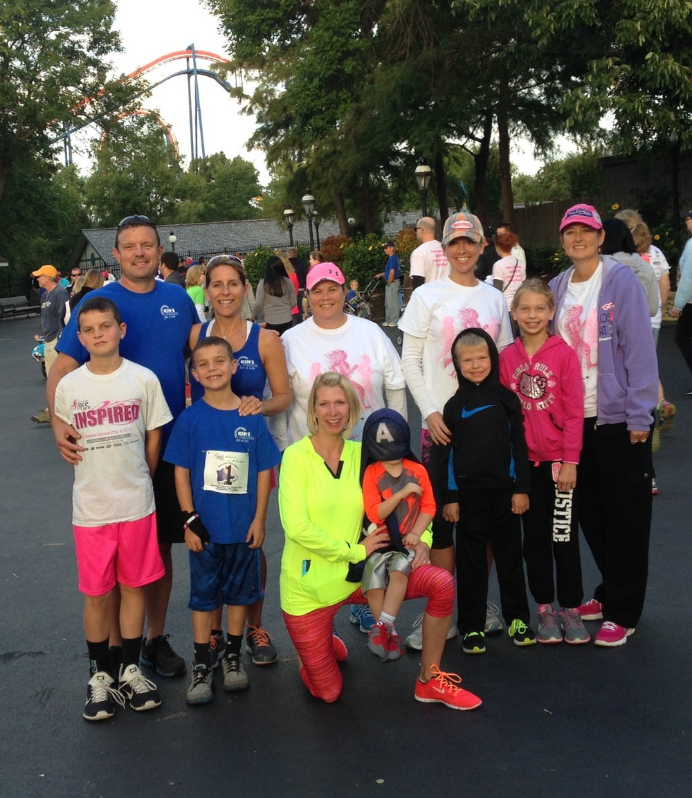 "Through participation and donations, the ""BOMA for Boobies"" team raised more than $1,700 for breast cancer research at the Susan G. Komen 5K."