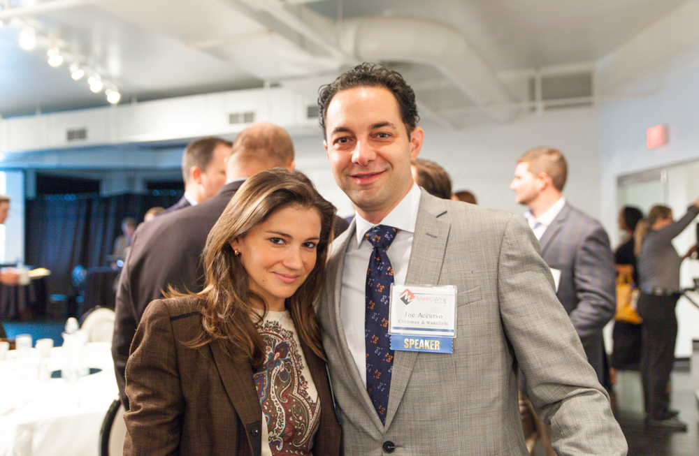 Maddie Montague is the development manager at Centerpoint Properties, while Joe Accurso is a VP at Cushman & Wakefield. Photo by Jacia Phillips.