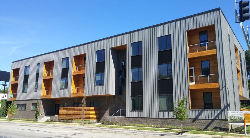 63Brookside consists of 23 modern apartments -- the first newly built rentals the neighborhood has seen in more than 40 years.