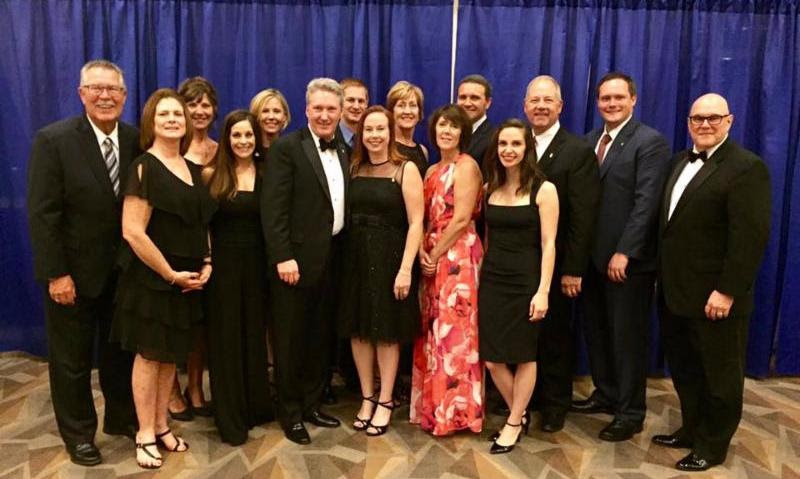 The Kansas City chapter helped honor 2017 IREM president Michael Lanning of Cushman & Wakefield at last week's Inaugural Gala in San Diego.