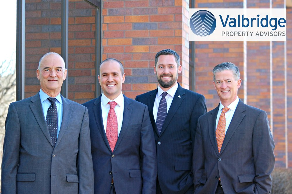 Valbridge Property Advisors Principals Bernie Shaner and Laird Goldsborough have announced a new succession plan for leadership that promotes Daniel Kann and Jason Roos to Managing Directors. Pictured above: Bernie Shaner, Daniel Kann, Jason Roos, Laird Goldsborough