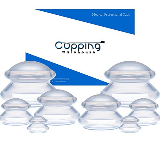 Silicone Cupping Therapy Set - It is always nice to be able to see a professional but limits of time and money often get in the way. This is a great way to do some self-care at home.Cupping is an ancient practice that creates suction and negative pressure, which can help relax muscles, encourage blood flow, and down-regulate the nervous system. Most people use it to relieve pain, relax stiff muscles, and reduce anxiety, fatigue, and migraines.We prefer this shape because they can be left on in one place or moved around your tissue while suctioned on. This set is ideal because it contains eight cups in four different sizes. This is imperative to be able to use on different parts of your body.