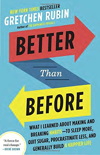 Better Than Before - This book was revolutionary for us. There is so much pressure to keep habits, especially around fitness and nutrition, that people often feel guilt and/or shame if we don't live up to expectations. Better than Before introduces a framework that outlines how different people respond to different types of expectations and validates that what works for someone else might not work for you. Biggest take-away: You are not a bad person if you can't stick to resolutions; you might just need to approach them differently. This book will give you strategies to make good habits and break bad ones.Her follow-up book, The Four Tendencies, goes deeper into the framework of each personality profile. Exploring your tendencies can have obvious personal benefits but learning the other ones can make you a better partner, parent, colleague, and friend. We recommend reading BOTH!