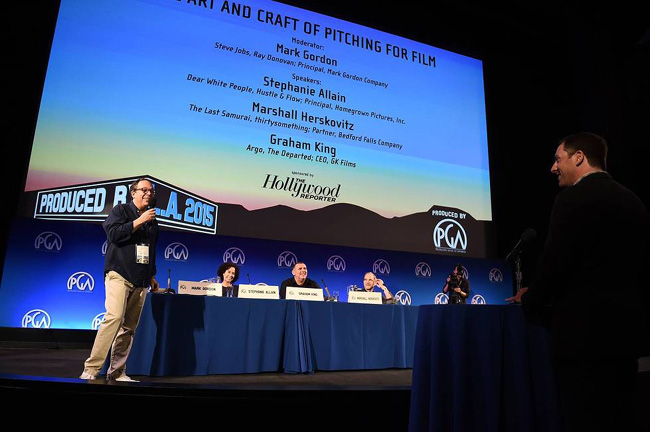 Pitching for Film: Mark Gordon, Stephanie Allain, Marshall Herskovitz, and Graham King.