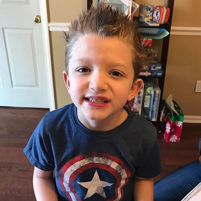Crazy hair day #handsome #handsomeboy #parenthood