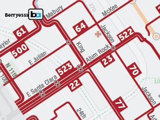 Rutas propuestas de autobuses frecuentes