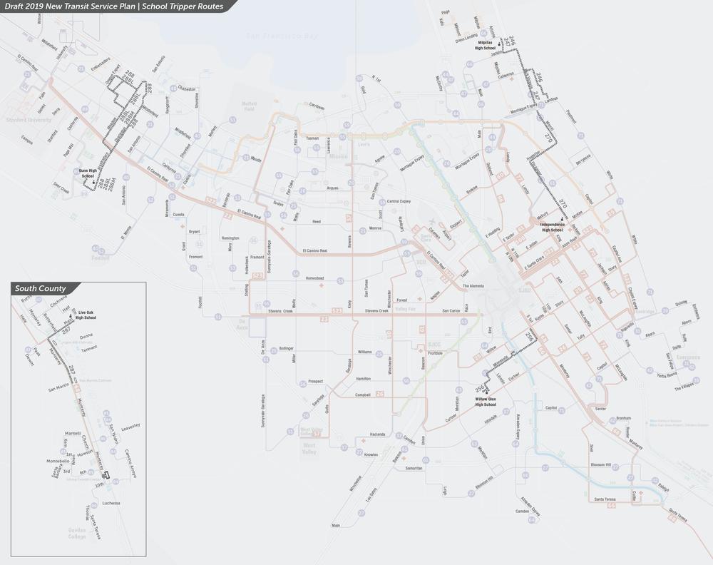 PDF:  Mapa de rutas propuestas de autobuses con servicio para las escuelas
