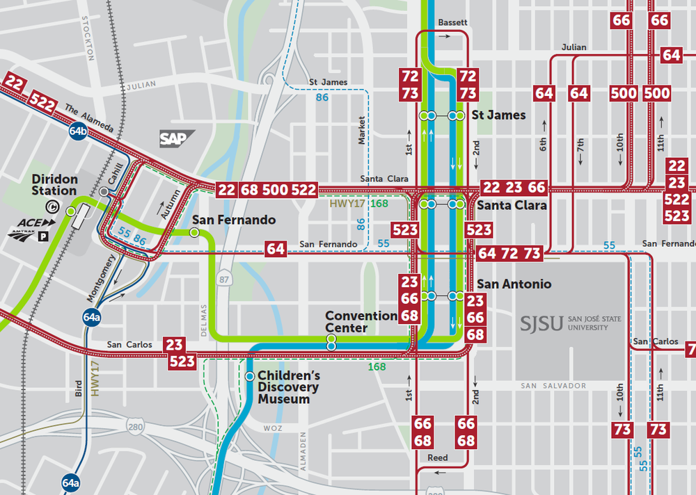 Final 2019 New Transit Service Plan  Downtown San Jose Map  (PDF) - need to add new file